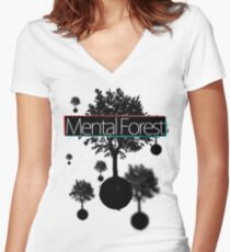 Free Floating Trees Women's Fitted V-Neck T-Shirt