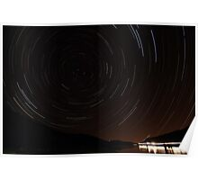 Horsetooth Reservoir Startrail Poster