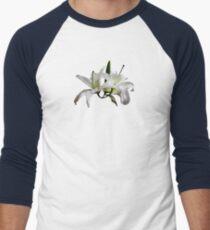 Two Delicate White Lilies Men's Baseball ¾ T-Shirt