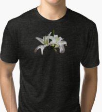 Two Delicate White Lilies Tri-blend T-Shirt