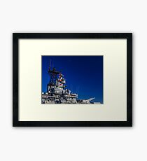 Vehicles: USS IOWA Framed Print
