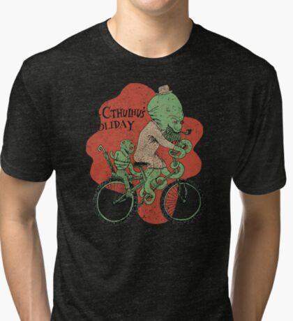 Mr. Cthulhu's Holiday Tri-blend T-Shirt