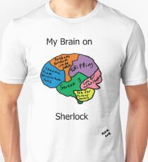 My brain on Sherlock Unisex T-Shirt