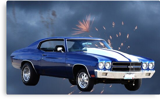 1972 Chevelle Ss Ultimate Musclecar Canvas Prints By Barnsis