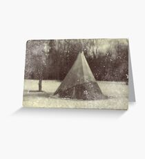 Tepee of the old cloud Greeting Card