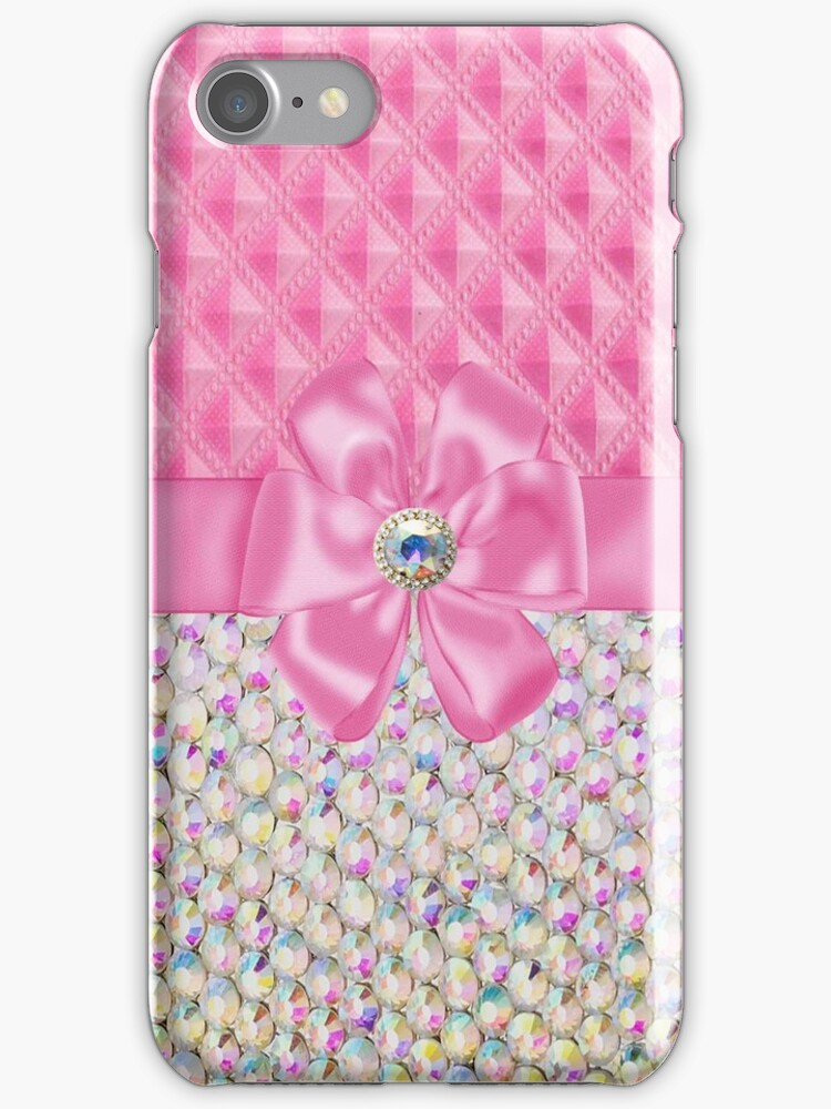 Iridesent Rhinestone  Funky Iphone or Ipod Case by jvinnyg