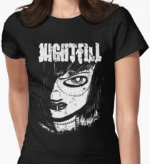 Nightfill - Dee Black and White Women's Fitted T-Shirt