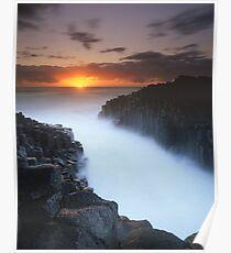 """Basalt Mist"" ∞ Fingal Head, NSW - Australia Poster"