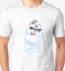 Scared Mr. Stay Puft. Unisex T-Shirt