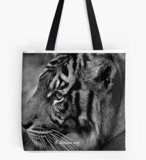 b/w tiger portrait Tote Bag