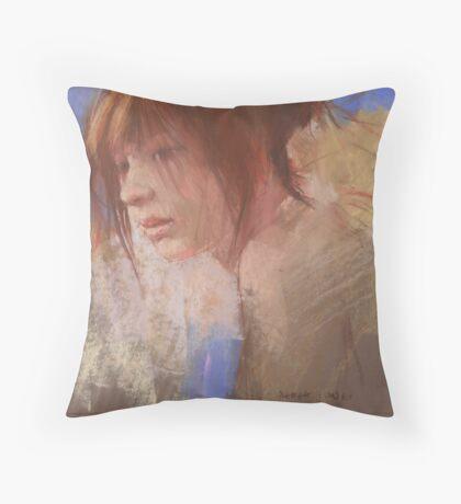 a pastel study Throw Pillow
