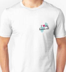 I Love My Boonie Cat Pocket Size (Blue) Unisex T-Shirt