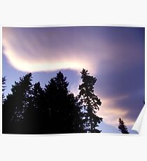 Clouds at Salmon arm Poster
