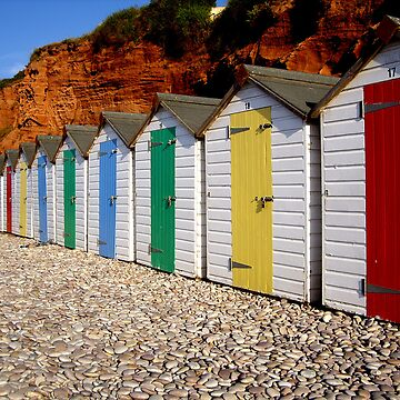beach huts by pautrat