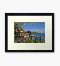 Panama. Bocas del Toro. Colon Island. Framed Print