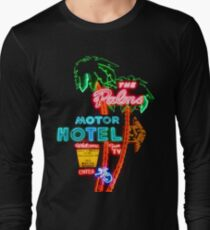 Palms Hotel Motel Neon Sign Retro Long Sleeve T-Shirt