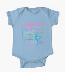 Gymnastics Typography in Pastels One Piece - Short Sleeve