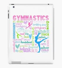 Gymnastics Typography in Pastels iPad Case/Skin