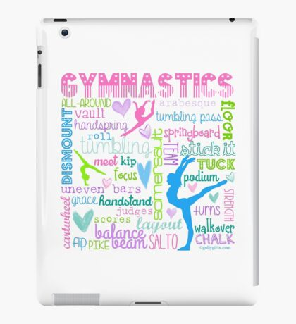 Gymnastics Typography in Pastels iPad Case/Skin