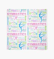 Gymnastics Typography in Pastels Scarf