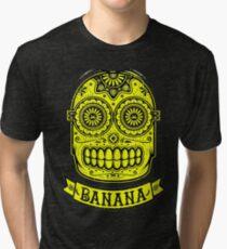 Minion Banana Sugar Skull Tri-blend T-Shirt