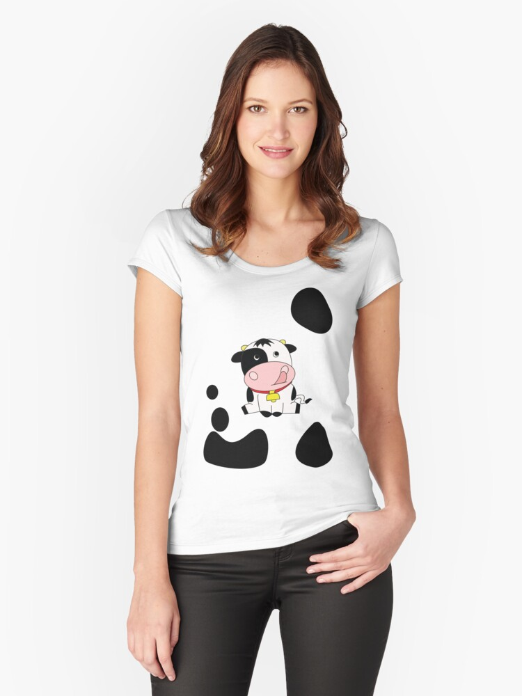 Moo! Women's Fitted Scoop T-Shirt Front