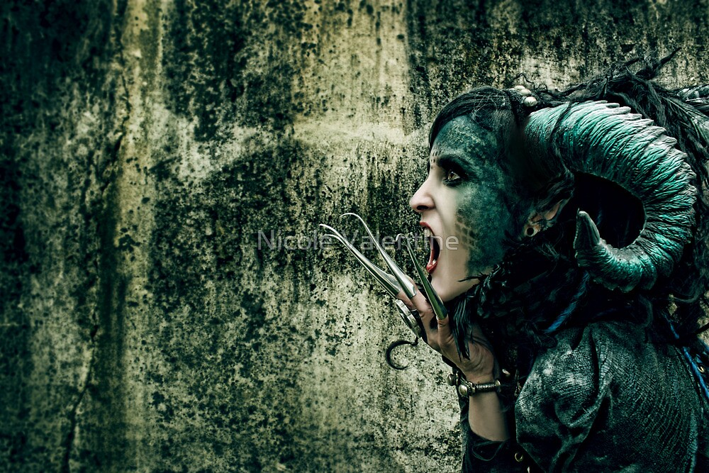 She Has Blood of Reptile Just Underneath Her Skin... by Nicole Valentine