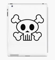 Piratenschädel (weiß + Umriss) iPad-Hülle & Klebefolie
