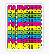 Dubstep (rainbow color) Sticker