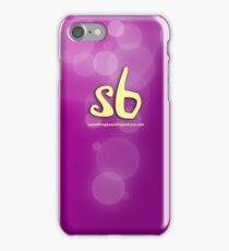 sbpodcast purple bubbles iPhone Case/Skin