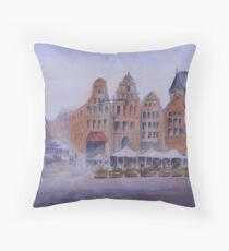 City Square, Rostock, Germany Throw Pillow