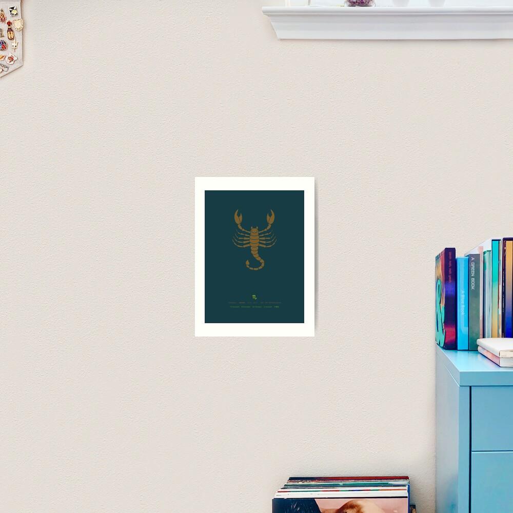 Scorpio Zodiac / Scorpion Star Sign Poster Art Print