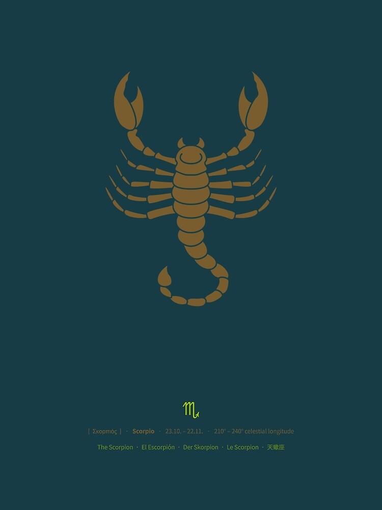 Scorpio Zodiac / Scorpion Star Sign Poster by Thoth-Adan
