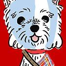 Braveheart Westie by fluffymafi