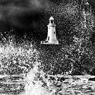storm hit Corbiere lighthouse  by Gary Power