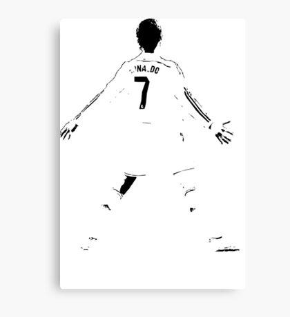 Cristiano Ronaldo Goal Celebration Canvas Print