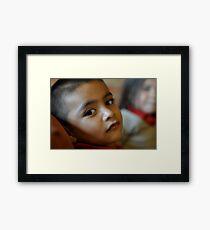 Boy in RO chapel Framed Print