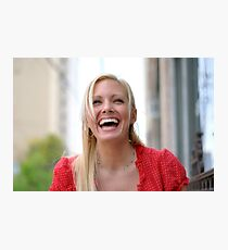 Holly Laughs RO Photographic Print