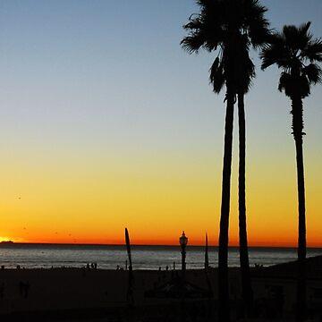 Sunset, Huntington Beach,California by vmgh