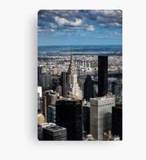 Chrysler Building - New York In Miniature Canvas Print