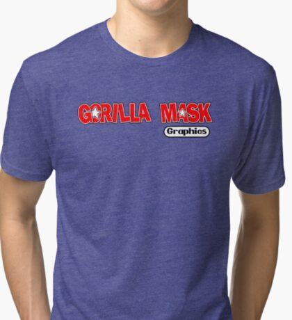 Gorilla Mask Graphics DK style Tri-blend T-Shirt