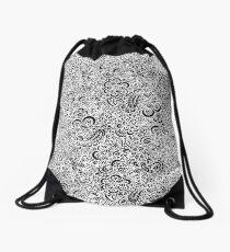 White Flora Drawstring Bag