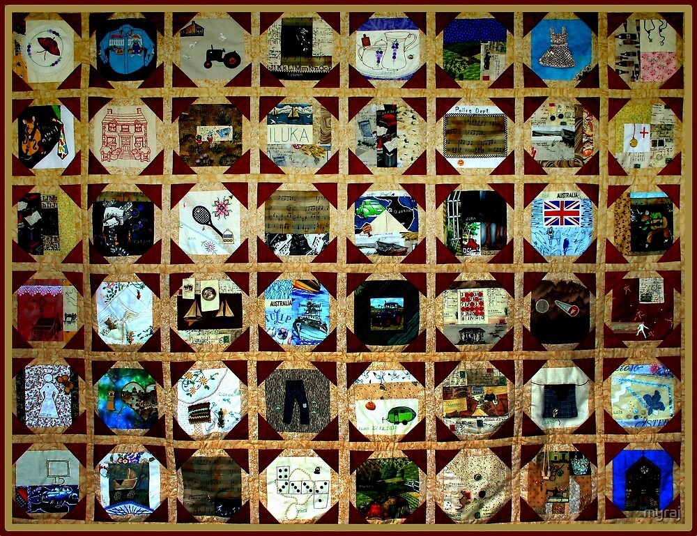 Strolling down memory lane is a test of time and mind.  MEMORY QUILT by myraj
