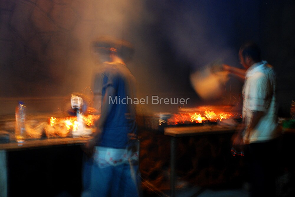 fish grill boys north bali by Michael Brewer