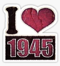 I heart 1945 Vintage T-Shirt Sticker