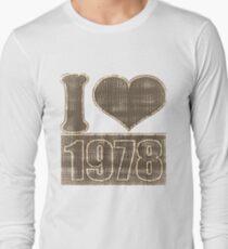 I heart 1978 Vintage T-Shirt Long Sleeve T-Shirt