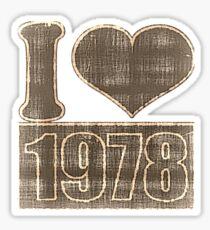I heart 1978 Vintage T-Shirt Sticker