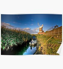 Cley Windmill Poster