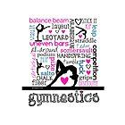 Gymnastics Tri-Color Typography by gollygirls