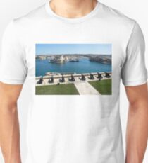 Guarding the Expensive Boats - Valletta's Grand Harbour Saluting Battery Unisex T-Shirt